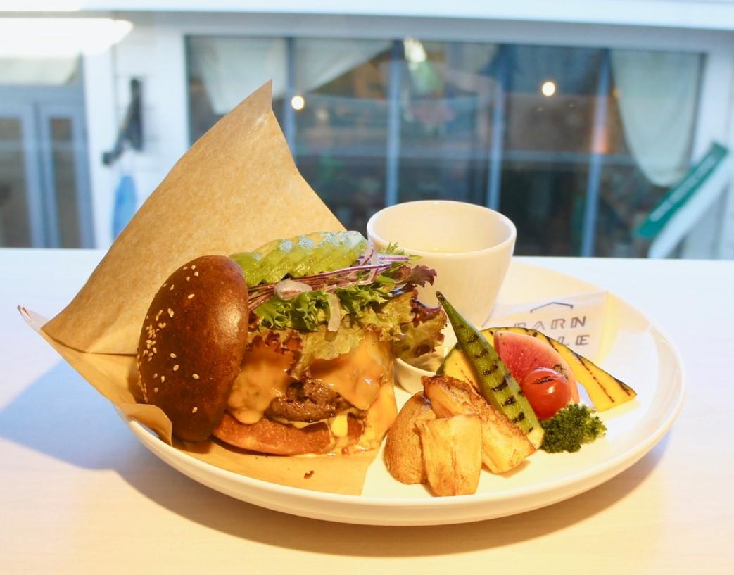 バーンテーブルのハンバーガー